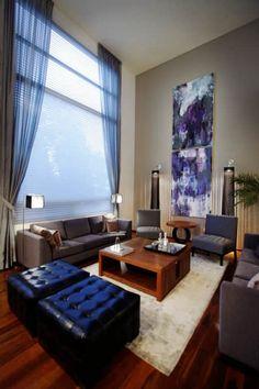 Casa Tecamachalco: Salas de estilo moderno por Concepto Taller de Arquitectura