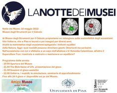 #NottedeiMusei al #MuseodelCalcolo #Pisa 16 maggio 2015 a partire dalle ore 21,00