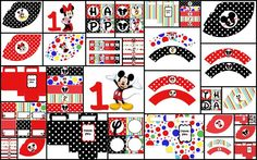 free printable birthday mickey mouse | Mickey Mouse Minnie Mouse Theme Printable Party by ZoleesBoutique