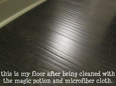 Cleaning laminate floors.