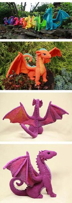 This crochet dragon is magical! It would look amazing hooked up with the Red Heart stripes yarn, or any other combination of variegated yarns and bright solids. Definitely making this one for my kiddo for Christmas. (affiliate link)
