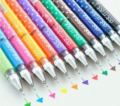 12 Colori di novità coreano cancelleria gel penna inchiostro, pennarello, Penna roller bling per bricolage, disegno, scrittura, firma, graff...