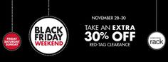 Nordstrom Rack Black Friday Sale: Extra 30% Off All Clearance Items - http://www.shopgirldaily.com/2014/11/nordstrom-rack-black-friday-sale-extra-30-off-clearance-items/