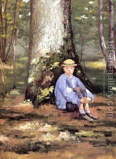 Gustave Caillebotte:Yerres Camille Daurelle Under An Oak Tree