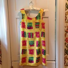 Hawaiian Yellow Block Sundress Size XS Extreme Island Designs Hawaii Yellow Block Sundress Size XS. Extremely well made - bought on vacation in Key West. Wore twice. The colors are magnificent - look just like 1st pic - and the fabric is sumptuous! Hand wash only - FYI. Ideal dress for your summer wardrobe! Excellent condition! You will LOVE this dress! Extreme Island Designs Hawaii Dresses Mini