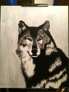 Lone wolf by ShopArtbyHannah on Etsy