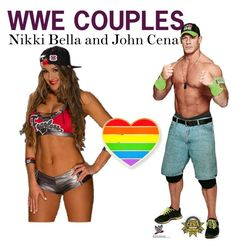 """""""WWE COUPLES;Nikki Bella and John Cena"""" by angel-wwe-forever ❤ liked on Polyvore featuring art"""