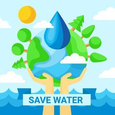 Save Water Poster Save Water Poster Images, Save Water Images, Save Water Save Life, Earth Day Projects, School Projects, Free Vector Clipart, Poster Drawing, Life Poster, Water Art