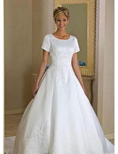 My Thoughts of the perfect wedding dress. Except I want a band around the waist of the color of the bridesmaids dresses.