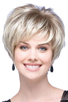 Blonde European Short Straight Synthetic Hair Wig