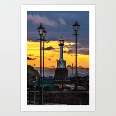 Collect your choice of gallery quality Giclée, or fine art prints custom trimmed by hand in a variety of sizes with a white border for framing. Sunset Art, Cumbria, True Love, Lighthouse, Fine Art Prints, Coast, Gallery, Frame, Water