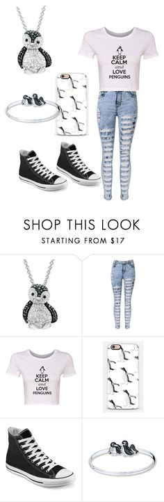 """""""(I) LOVE PENGUINS"""" by awesomeskittles100 ❤ liked on Polyvore featuring Amanda Rose Collection, Casetify and Converse"""