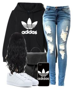 """."" by trillest-queen ❤ liked on Polyvore featuring adidas and MANGO"
