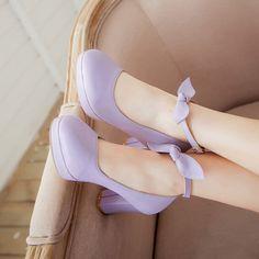 Sweet cute bowknot heels