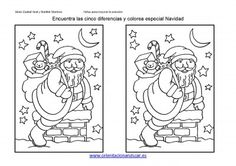 ENCUENTRA LAS DIFERENCIAS ESPECIAL NAVIDAD 2013 FICHA 4_Página_1 Christmas Games, Christmas Printables, Christmas Decorations, Teaching Spanish, Winter Crafts For Kids, Winter Kids, Santa Letter, Interactive Notebooks, Xmas Party