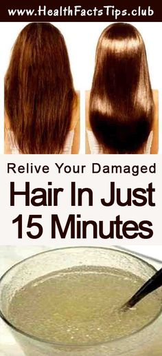 Relive your damaged hair in just 15 minutes