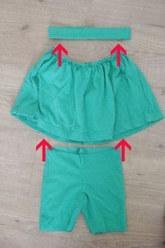 how to make a gathered skirt with attached shorts sewing tutorial