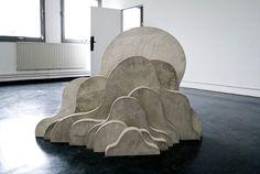 Lukas Richarz, Nuage - Béton armé - 2009 - 136 x 78 x 90 cm
