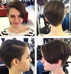 Long-Pixie-Haircut-for-Girls Awesome Undercut Hairstyles for Girls Girls Pixie Haircut, Longer Pixie Haircut, Haircut For Thick Hair, Short Pixie Haircuts, Girl Haircuts, Little Girl Hairstyles, Bob Haircuts, Best Undercut Hairstyles, Short Shaved Hairstyles