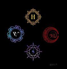 K Pop, Starry Night Tattoo, Mamamoo Moonbyul, Mamamoo Album, I Love Bts, My Love, Kpop Logos, Moon Logo, Solar Mamamoo