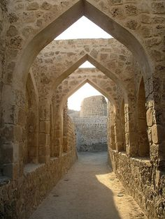The Qal'at al-Bahrain (UNESCO World Heritage Site) is an archaeological site located in Bahrain, on the Arabian Peninsula built from 2300 BC up to the 18th century