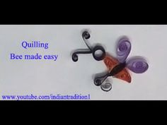 Making bee by using quilling paper
