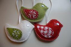Christmas felt crafts | Christmas felt birds | Craft Fair plans