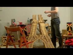 Eiffel Tower Kapla - Construction - YouTube #Toys #Blocks #Kapla