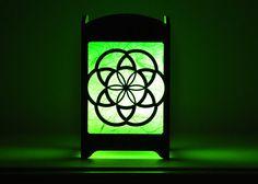 Seed of Life Light Box  Multicolor LED Candle by eyegrinddesign on Etsy  #etsy #etsysellers #etsygift #lightbox #nightlight #seedoflife #sacredgeometry #hippie #boho #multicolor #colorchanging #homedecor