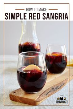 A Classic Red Sangria recipe and it will be the only one you will ever need! This is tasty, easy, and true to the drink. Sweet Sangria Recipe, Red Sangria Recipes, Easy Drink Recipes, Best Cocktail Recipes, Easy Cocktails, Drinks Alcohol Recipes, Classic Cocktails, Summer Cocktails, Fun Drinks