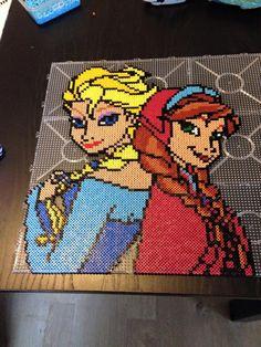 Anna and Elsa - Frozen hama perler beads by Malue Lindgreen