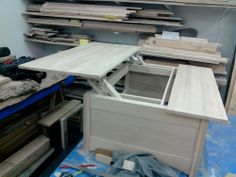 Premier test du plateau escamotable  First test of liftable table top