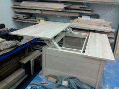 Mes r alisations en bois my woodwork on pinterest nest for Table bar escamotable
