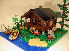 Lego Lapland Cabin. Love the birch tree!