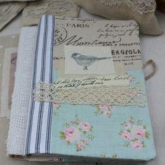 Sketchbook Journal blue script bird by roxycreations on Etsy