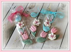 Rocking Horse Sugar Decor:  Spring mini cookies in a sleeve.