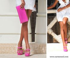 Crafted in Italy from non-toxic jelly material, all of Carmen Sol's designs are made for fun in the sun and sand.Carmen Sol Benefits include: eco-conscious, water Resistant, Slip Resistant, Rose Scented, Made in Italy. Available in 14 Dazzling Colors #bags #shoes #summerfashion #beach #beachbody #summerwear #summerstyle #resortstyle #resortlifestyle #lifeatthebeach#beachlife #summer #travel #vacation #relax #carmensol#love #designerbrands