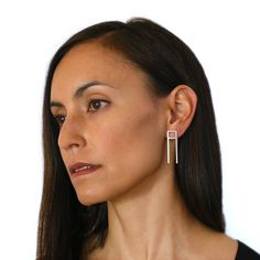From Mondemade artist Marja Germans Gard: ARTOS post earrings in bronze