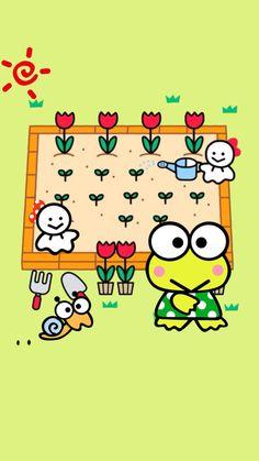 frog, garden, and keroppi image