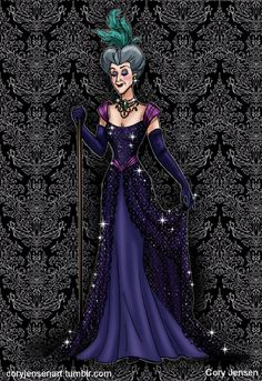 """My """"Designer Villains"""" Lady Tremaine, inspired by the Designer Collection Dolls from the Disney Store and the The Art of Steve Thompson! I've always loved the artwork from the collection and enjoy coming up with designs for characters that were not..."""