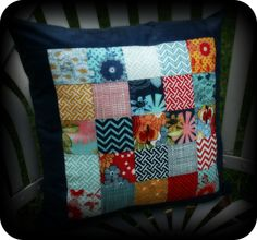 The Quilted Castle Blog- cute throw pillow idea