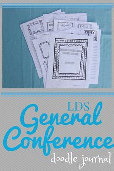 Are you looking for a way to dive deeper into LDS General Conference? This doodle journal is the perfect way to help you get more out of the inspiring talks.  Updated for October 2015 Conference.