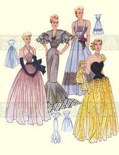 VINTAGE FRENCH DRESSES DRAFTING SEWING PATTERN    *****************************************************************  PLEASE NOTE : This IS A PDF COPY