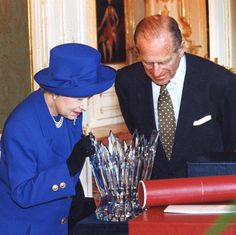 Queen Elizabeth II. and prince Philip