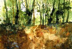 Original watercolour painting - Camouflage copse via Etsy