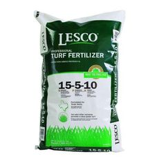Use this Lesco fertilizer 15-5-10 NOT Scott's etc. since made for TX FOR THE FIRST application w/greening grass. Not for garden, trees etc.! Has iron (deficient in N Texas and other fertilizers don't have) + sulfur, which helps de-alkalinize the soil (which is quite alkaline and stays that way with area water). See other pin for the other fertilizer to use LATER in the growing season. Apply to dry grass/water immediately after. LESCO 15-5-10 Texas Turf Fertilizer-026760 - The Home Depot Label Design, Box Design, Packaging Design, Compost, Top Soil, Organic Fertilizer, Planting Vegetables, Gardening Tips, Lawn