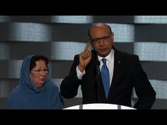 Dad of fallen Muslim soldier's powerful DNC speech (Khizr Khan full speech) - YouTube