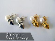 DIY Spikes : DIY Spike and Pearl Earrings  : DIY Jewelry