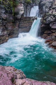 thundering, st. mary's falls, montana by besttravelphotos.wordpress.com - Pixdaus
