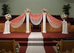 Home Decor Cool Pillars For Design Wonderful Wedding And A Room V: Full Size.Decorated Wedding Pillars Ideas Decorative Columns For Weddings Unusual Pictures Decorations.Pillar Decoration In Living… Wedding Ceremony Ideas, Church Wedding Decorations, Church Ceremony, Ceremony Decorations, Wedding Centerpieces, Wedding Ceremonies, Wedding Receptions, Wedding Church, Wedding Backdrops